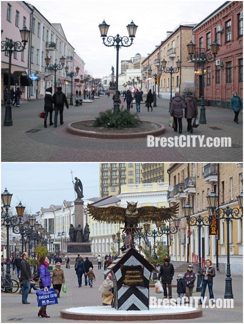 Памятник-фонарь отдела охраны убрали с ул. Советской в Бресте