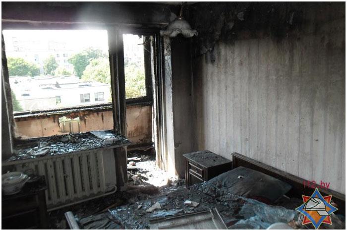 Пожар на улице Халтурина в Бресте