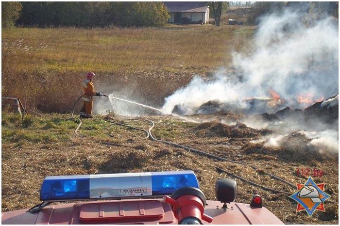 Пожар на ферме в деревне Заречка Дрогичинского района