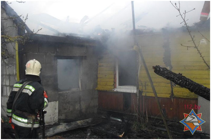 Пожар в деревни Бердичи 10 апреля 2014