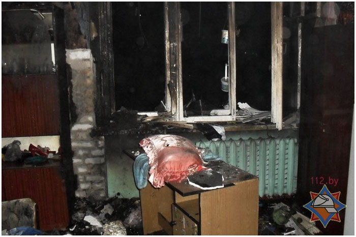 Пожар в Бресте в общежитии БЭМЗа на Молодогвардейской