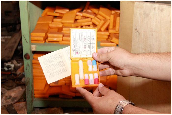 В сейфе заброшенного склада психотропное вещество - тарен