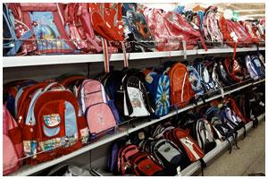 Школьные сумки в магазине