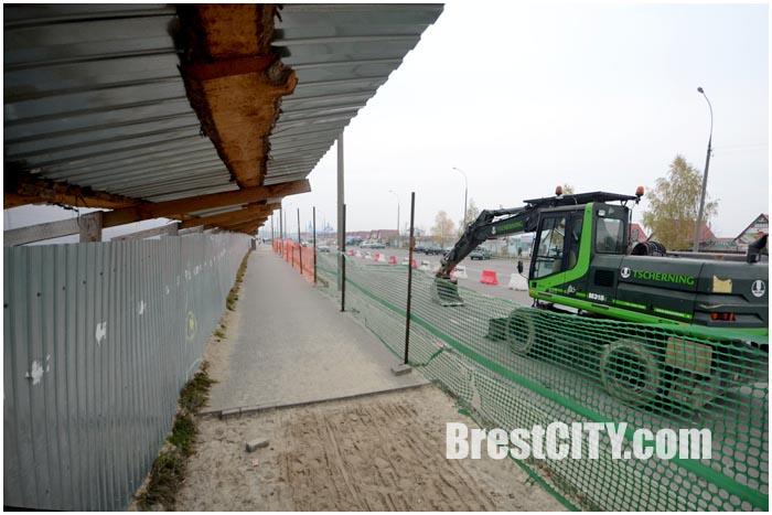Магазин Рублевский строят в Бресте на Волгоградской (Ковалево)