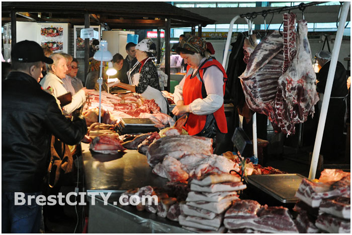 Центральный рынок в Бресте. Мясной отдел