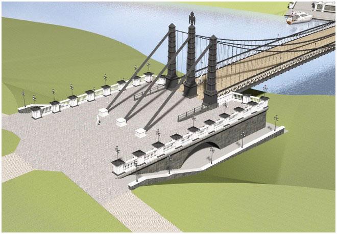 Прирусловые сооружения моста на Пограничном острове. Вид сверху