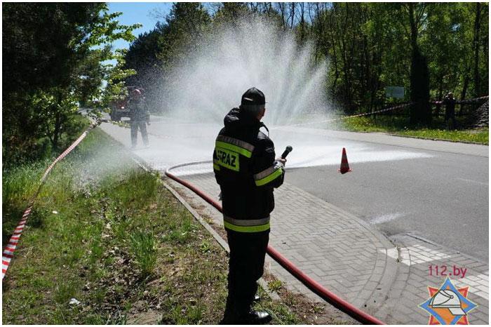 Ликвидация химической аварии в Польше. Тересполь