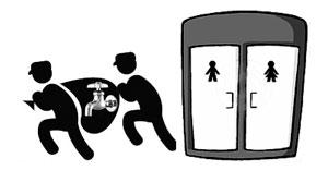 В Бресте из туалета в торговом центре украли смеситель для умывальника