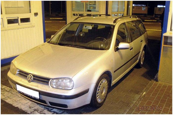 На таможне в Бресте изъят легковой автомобиль «Volkswagen Golf»