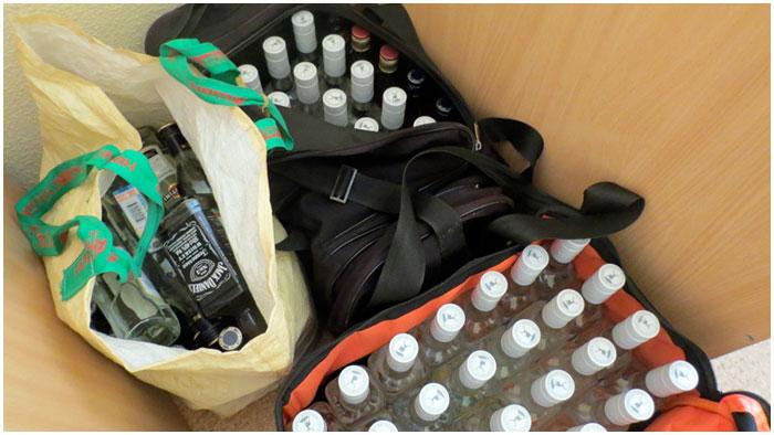 Алкогольная продукция в сумках