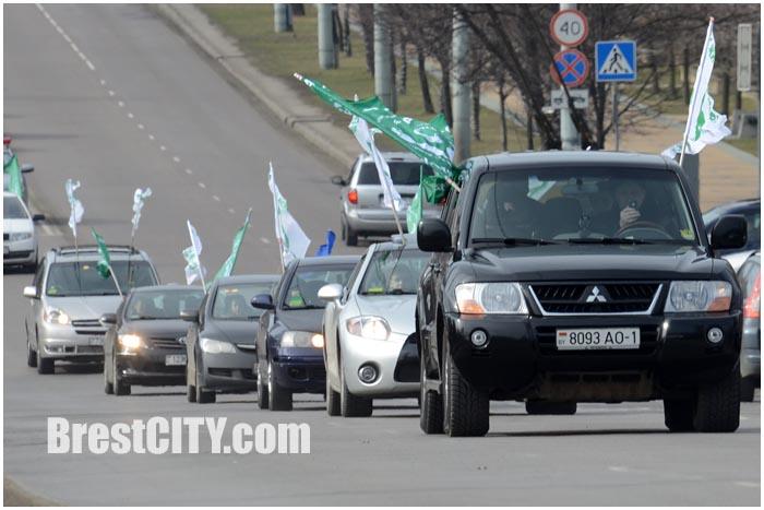 Автопробег в Бресте 8 марта 2015