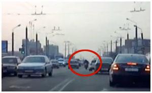 Погоня за байкером в Гродно 25 марта 2015
