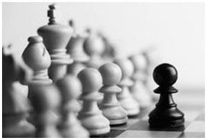 Черная пешка. Шахматная доска