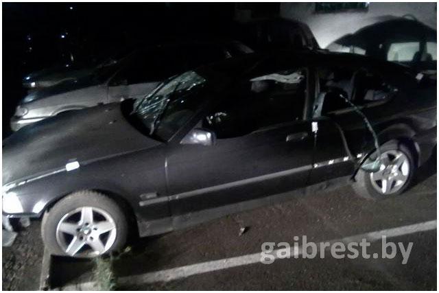 Авария на бульваре Шевченко в Бресте 7 октября 2015