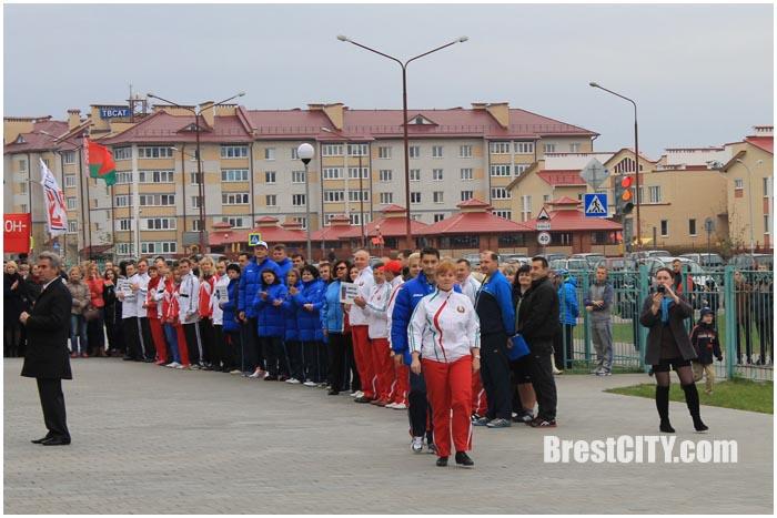 Городская вертикаль прошла в Бресте 17 октября 2014 в СШ 1