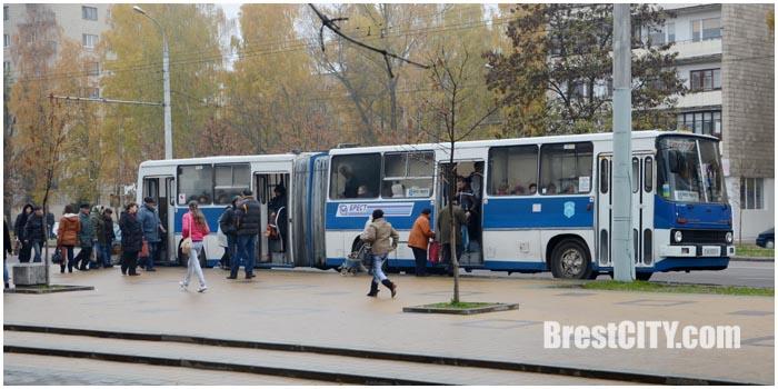 Городской автобус Икарус в Бресте.Маршрут №45. Радуга Фото BrestCITY.com
