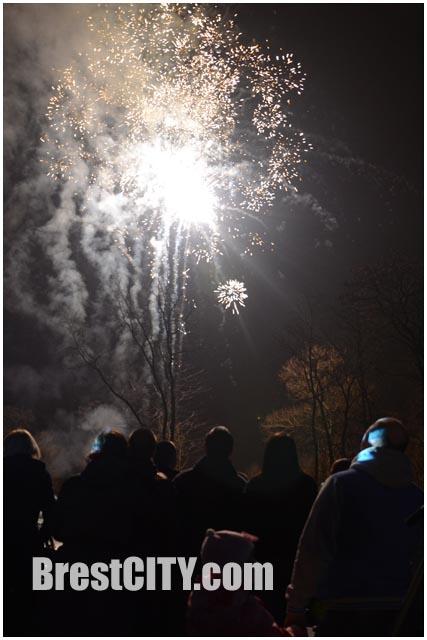 Фаер-шоу в брестском парке 27 февраля 2015