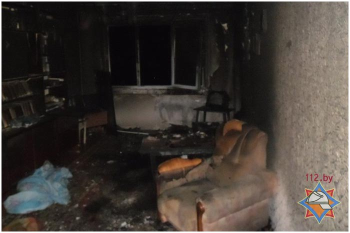 Пожар на улице Орловской в Бресте
