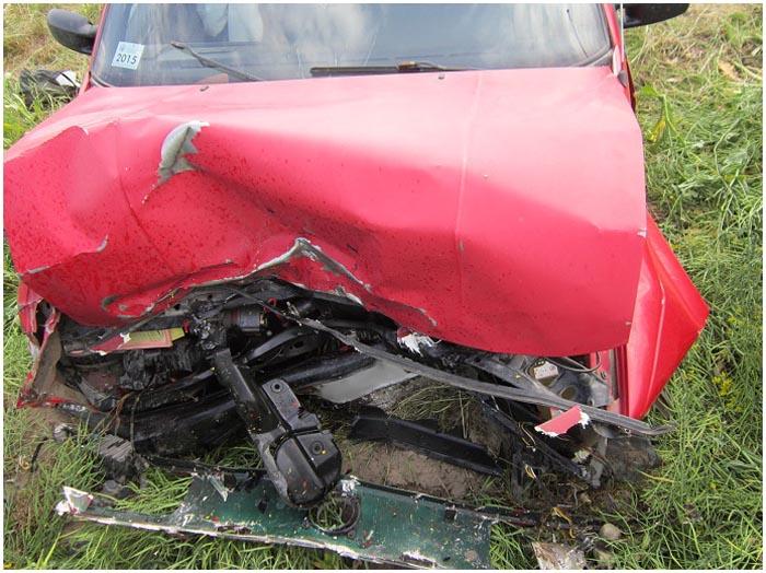 Авария в Кобринском районе. Форд КА