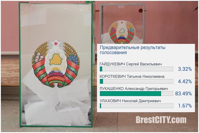 Итоги голосования по выборам Президента Беларуси 2015. Фото BrestCITY.com