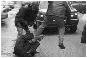 Избили мужчину на улице