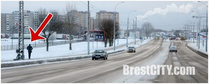 Мобильная камера контроля скорости в Бресте на ул. 28 Июля