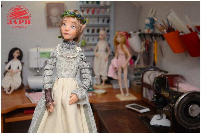 Брестчанка Евгений Онискевич и ее куклы. Фото Александра Шульгача