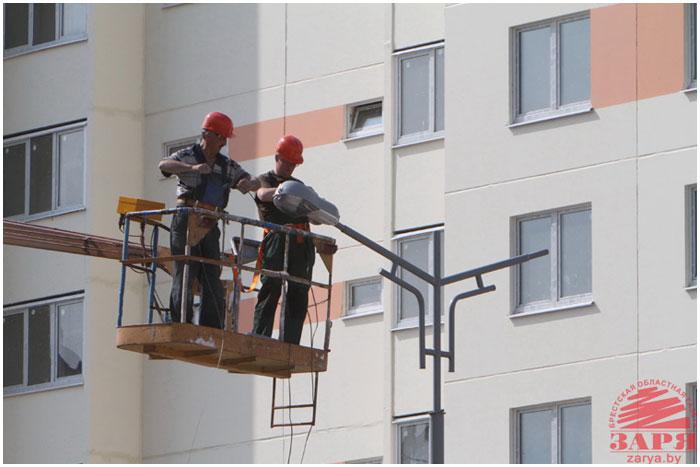 Новые панельные дома в Бресте. Благоустройство