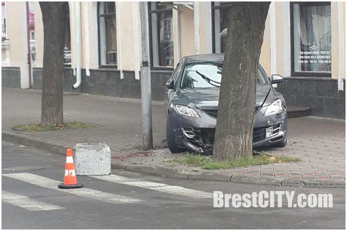 Авария в Бресте на улице Пушкинской