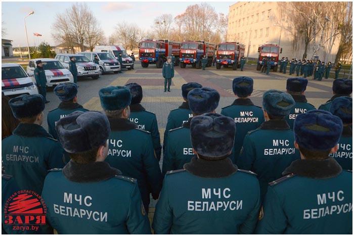 Новую технику получили брестские спасатели МЧС