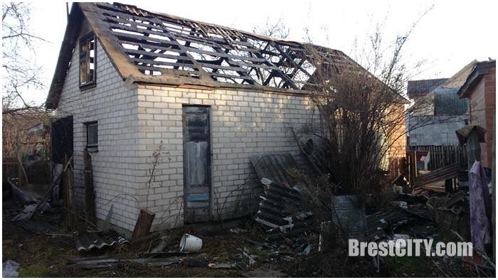 Пожар на улице Медовой в Бресте