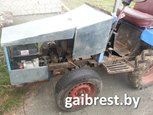 На самодельном тракторе задержан пьяный житель деревни Большие Мотыкалы