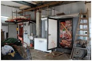 Мясо в гараже. Незаконная перепродажа