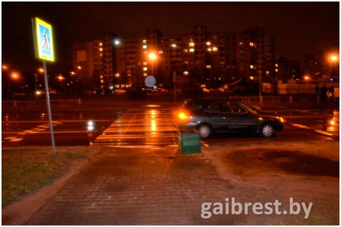 Наезд на пешехода на ул.Гродненской в Бресте