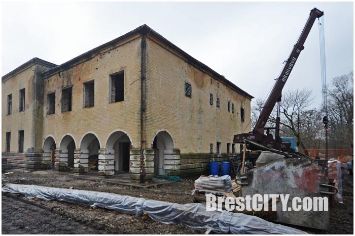 Строительство патриотического центра в Брестской крепости