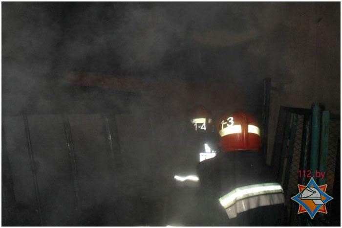 В Бресте при пожаре сгорел рено траффик
