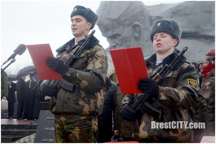 Присяга в Брестской крепости 12 декабря 2015. Фото BrestCITY.com