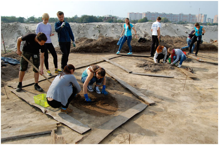 В Бресте обнаружили старый германский могильник возле рынка Лагуна