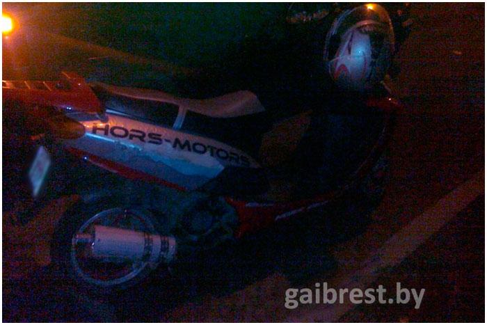 В Бресте травмирован водитель скутера