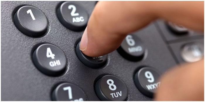 Городской телефон. Набор номера
