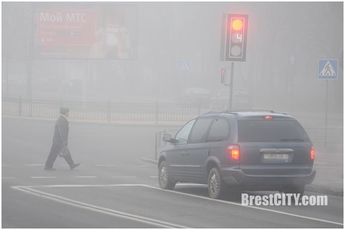 Туман в Бресте 8 декабря 2015 года