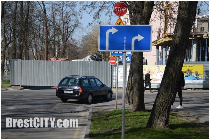 Закрыт проезд по улице Гоголя