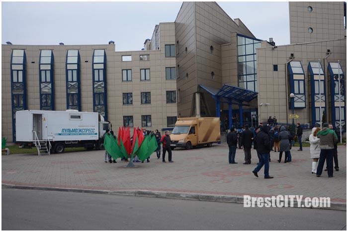 Акция Здоровый город в микрорайоне Ковалево Бреста 28 ноября 2015