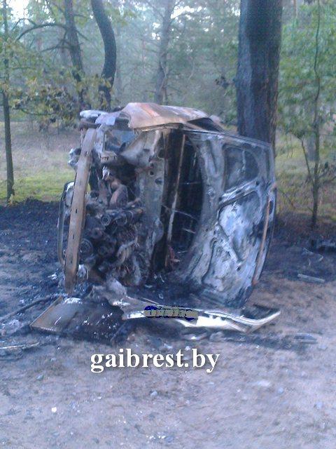 В деревне Борисы ночью сгорела Ауди
