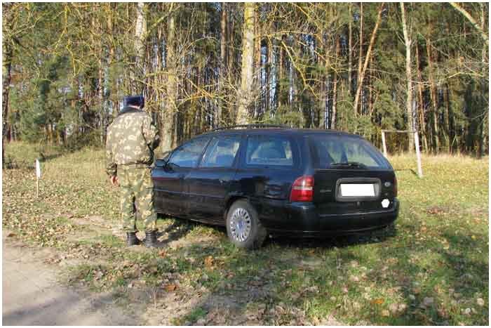 Автомобиль в пограничной зоне