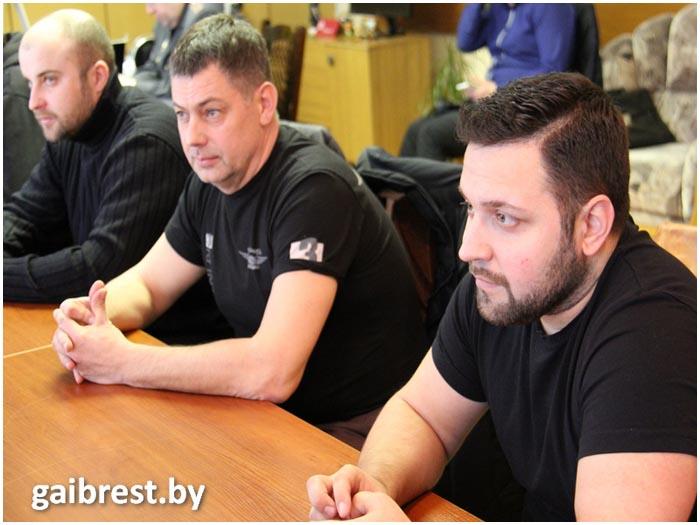 Встреча брестских байкеров с начальником областной Госатоинспекции