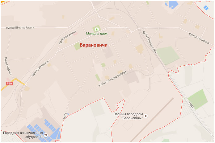 Город Барановичи. Карта города