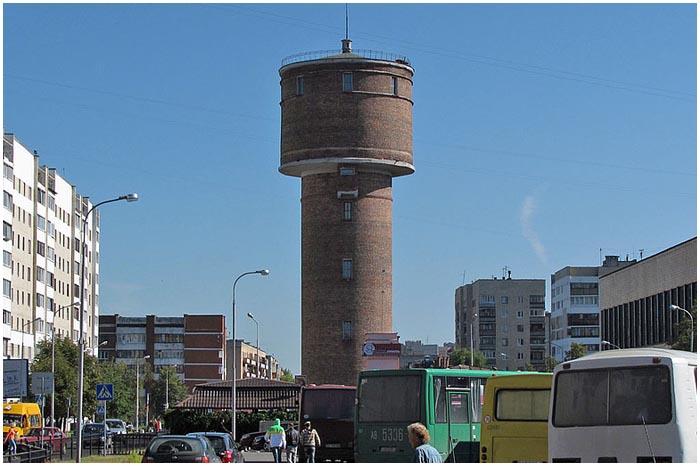 Водонапорная башня в Бресте по ул.Мицкевича