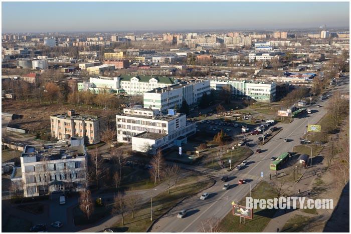 Брест  с высоты 20-этажа 31 декабря. Фото BrestCITY.com