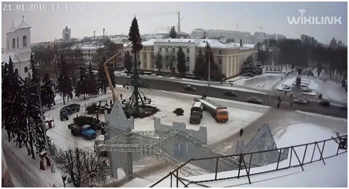 Прямая трансляция с веб-камеры на площади Ленина в Бресте